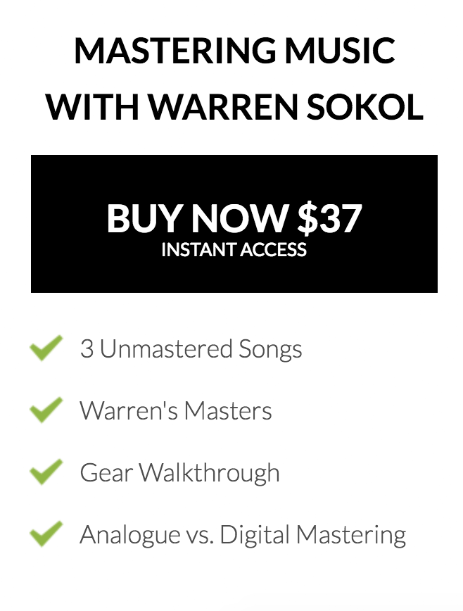 Mastering Music With Warren Sokol Course