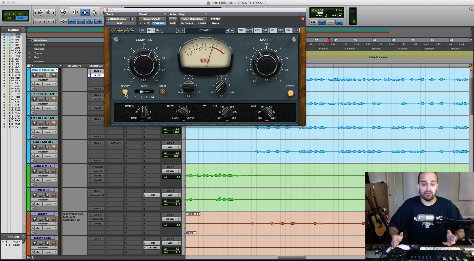 Mixing compression