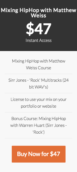 Mixing HipHop with Matthew Weiss course