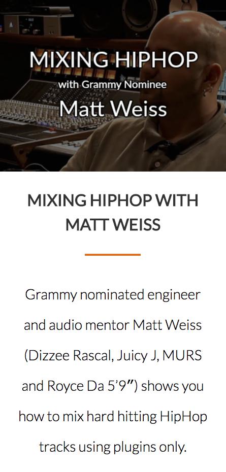 Matt Weiss Hip Hop