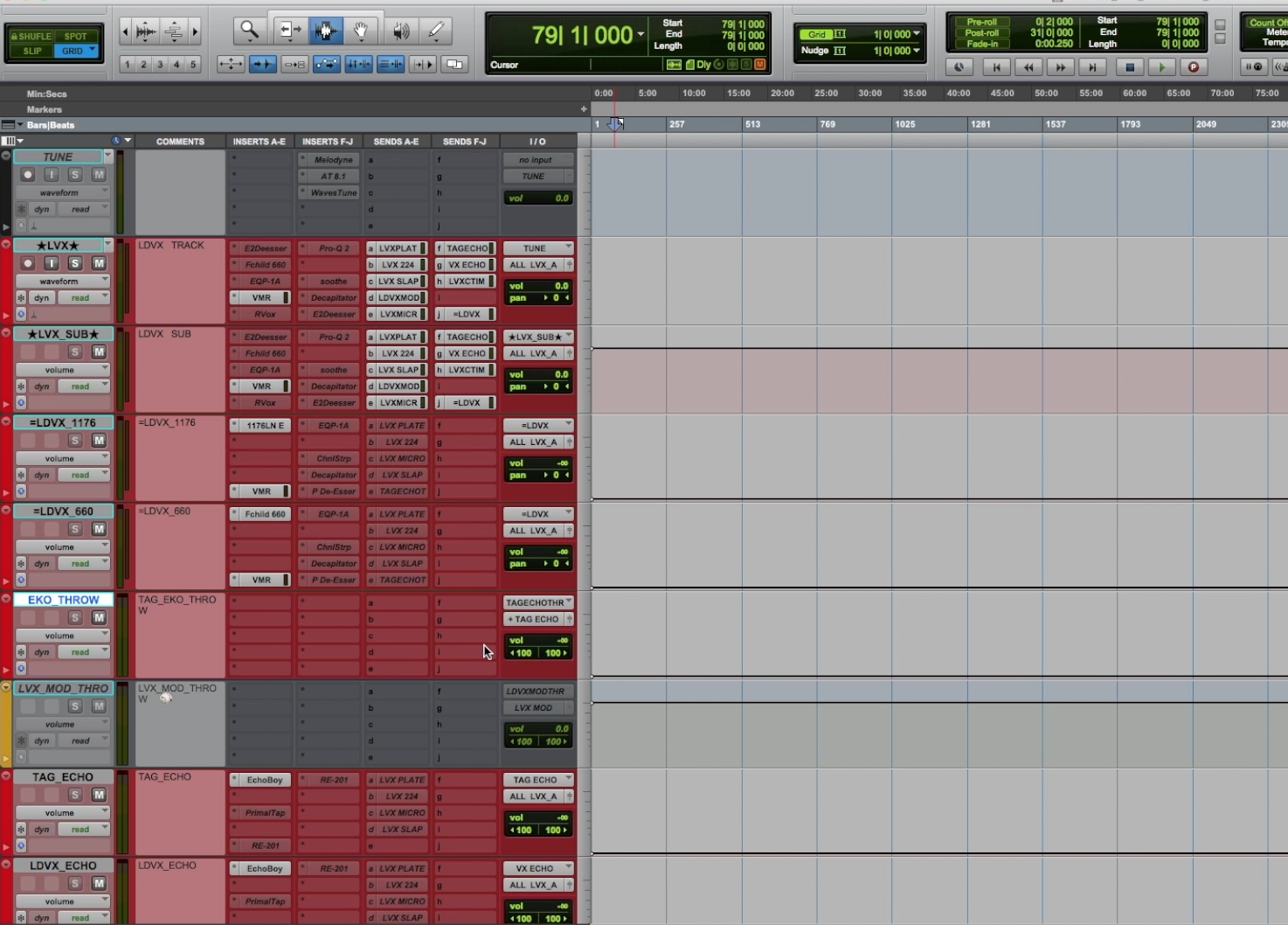 Mixing Template