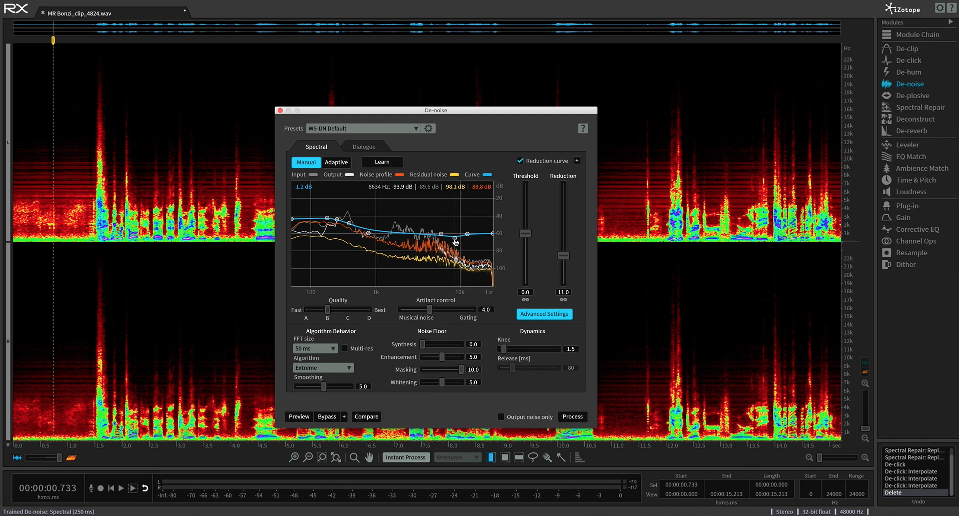 noise reduction with izotope rx course
