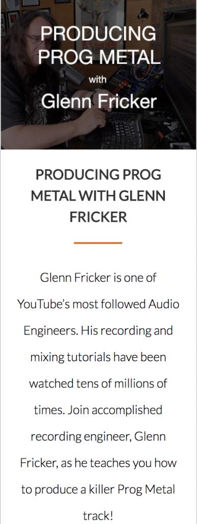 Prog Metal Glenn Fricker