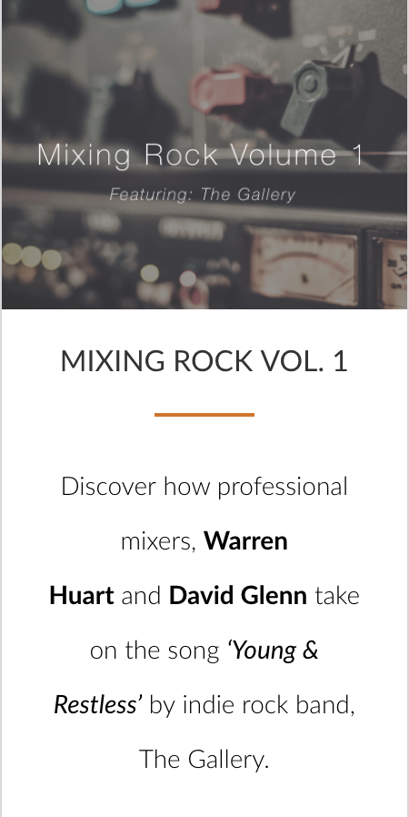 THE ULTIMATE ROCK MIXING BUNDLE - Pro Mix Academy