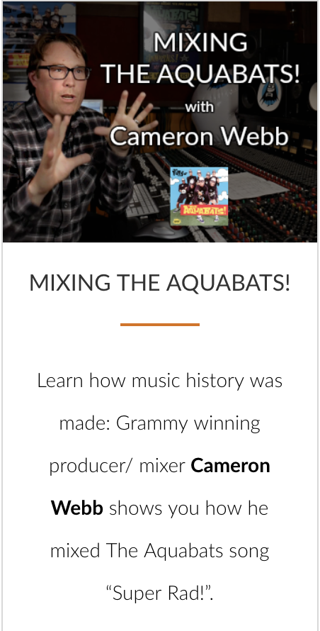 Mixing the Aquabats