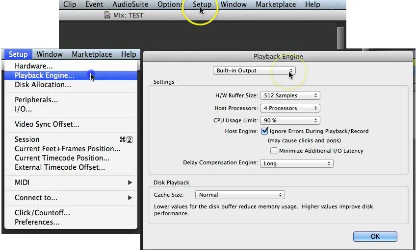 Protools configuration & Setup