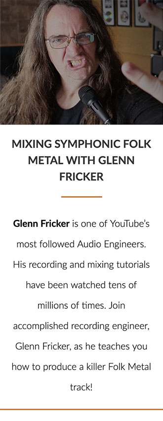 Mixing Symphonic Folk Metal with Glenn Fricker
