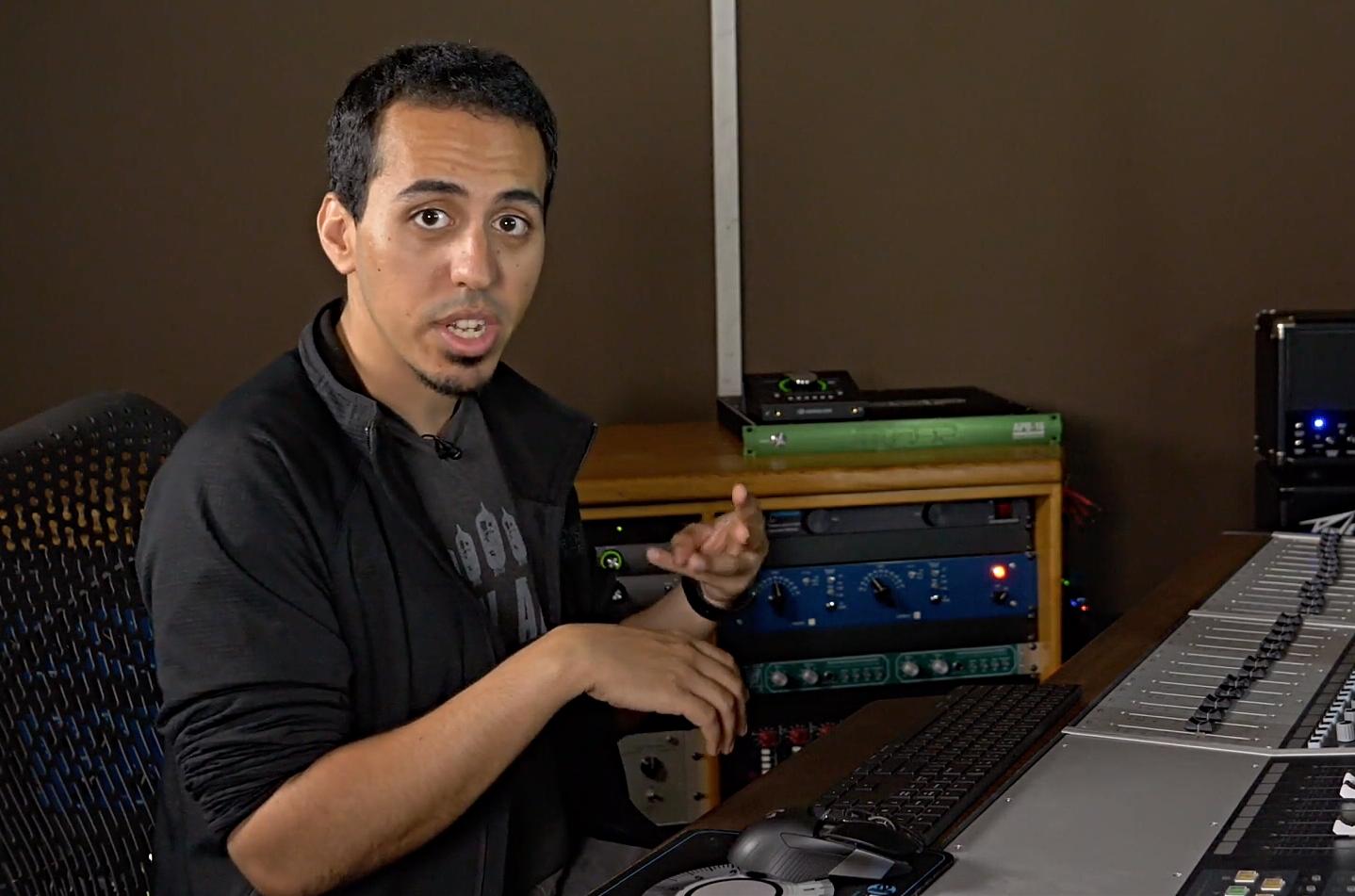 Alex nasla explaining mixing an album
