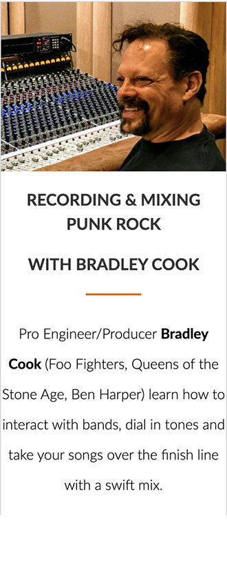 Recording & Mixing Punk Rock with Bradley Cook