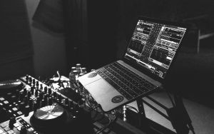 Music production on laptop