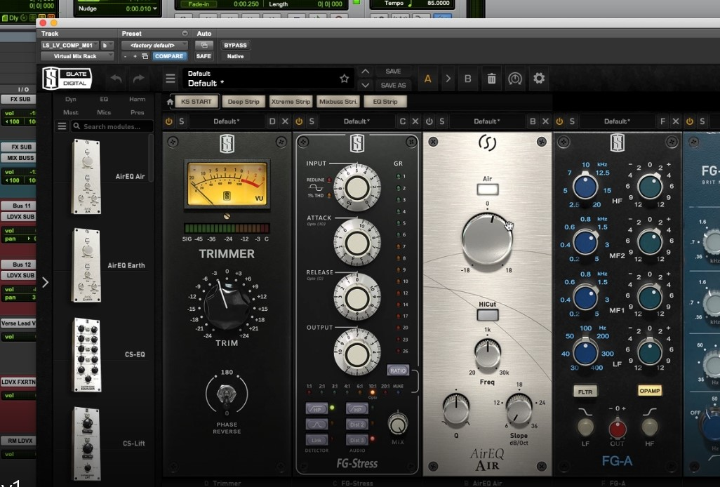 mixing with plugins