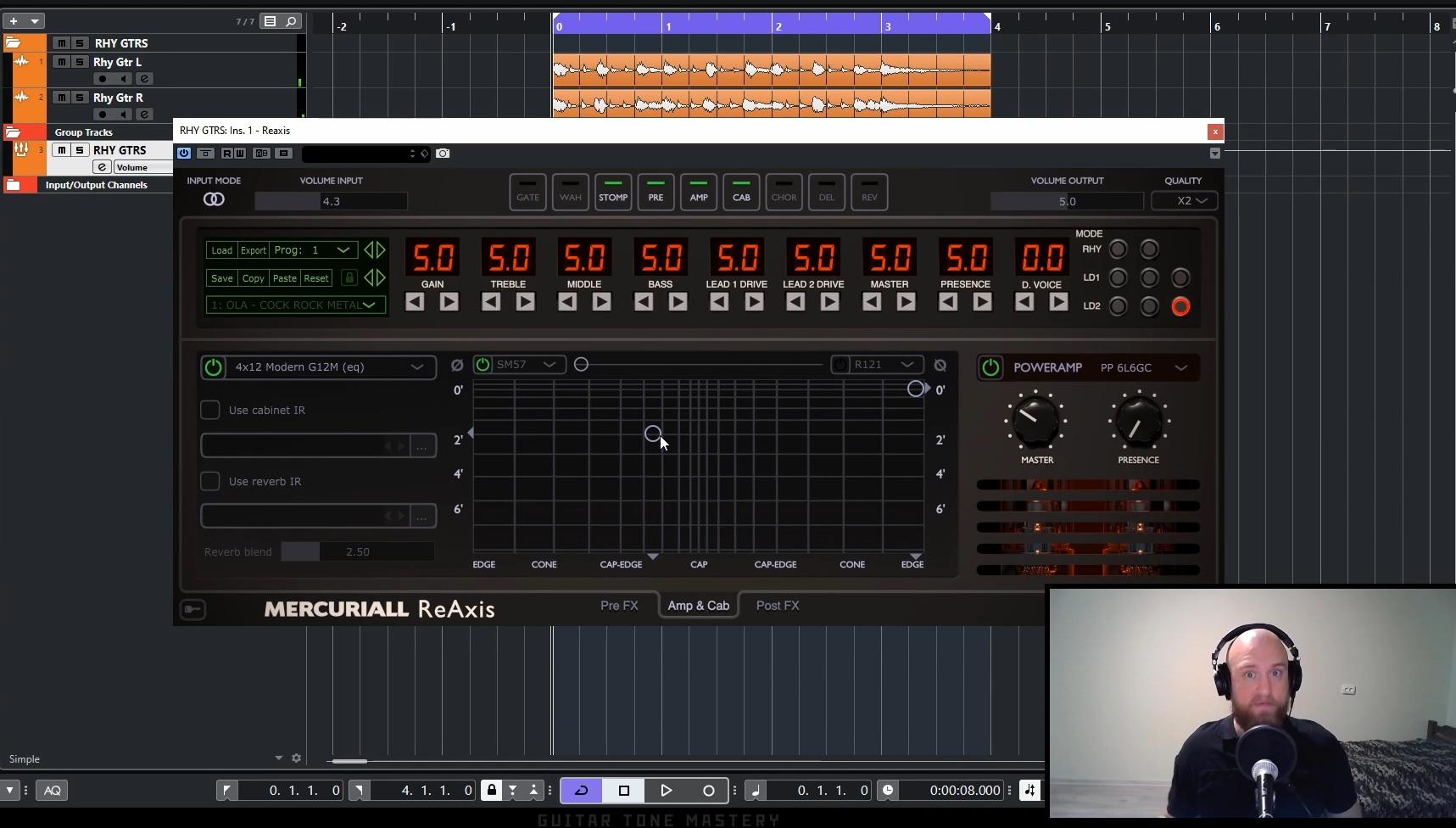 Achieve killed guitar tones using plugins
