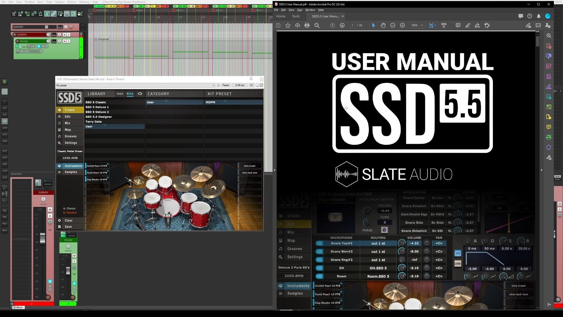 analyze drum software ssd 5.5