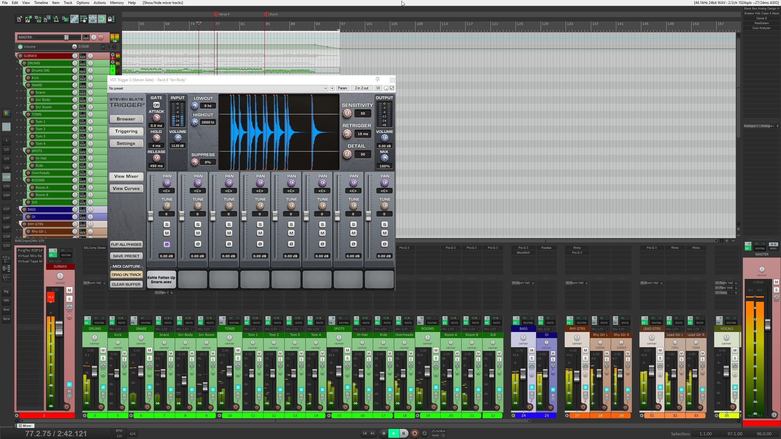 slate_trigger 2 drum mixing